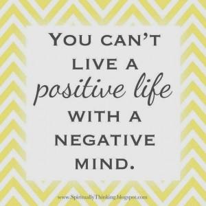 positive life vs negative mind