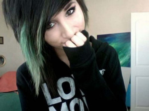 cute, emo, girl, lauren, scene, twloha