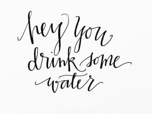 note to self: drink more water!! // adding to my #heyyouseries // by ...