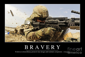 Bravery Inspirational Quote Photograph
