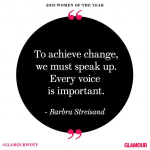 Barbra Streisand at #GlamourWOTY