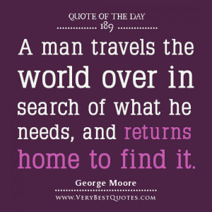 Family Quote For The Day: returns home to find it