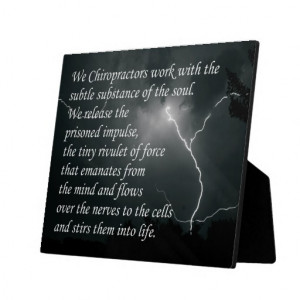 Chiropractic Quotes and Sayings Easel Photo Plaque