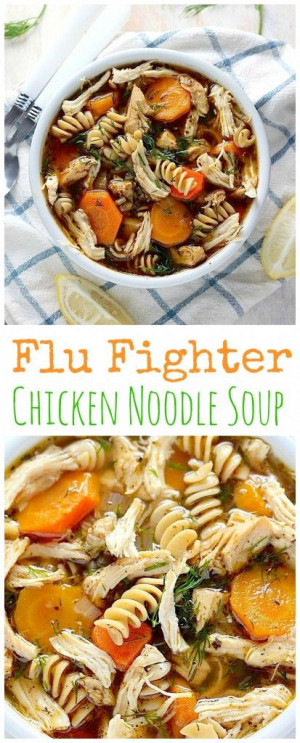 AMAZING FLAVOR! Flu Fighter Chicken Noodle Soup is loaded with good ...