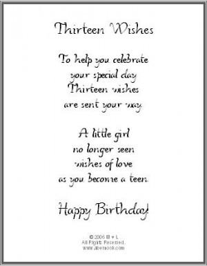 13th Birthday Wishes Bracelet