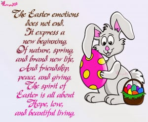 Happy Easter Day Poems and Picture with Bunny