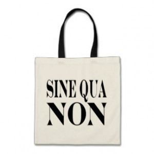 Sine Qua Non Famous Latin Quote: Words to Live By Canvas Bag