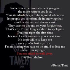 ... lost my trust. I AM NOT AFRAID TO WALK AWAY .. Trent Shelton Quotes