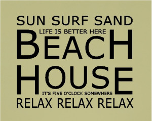 beach house quotes wall words decals lettering sayings