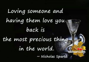 ... and having them love you back is the most precious thing in the world