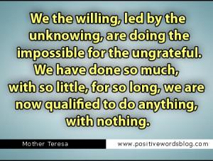 Ungrateful Quotes Imposible quotes