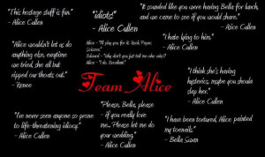 Alice Cullen Team Alice