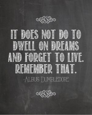 Harry Potter Quotes Dumbledore Dreams (2)