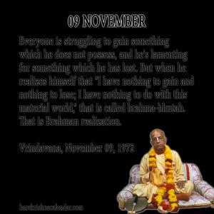 Srila Prabhupada's Quotes for 09 November