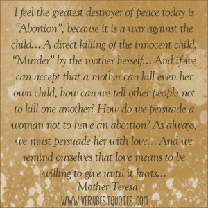 Quotes About Children Mother Teresa Quote Abortion Inspirational