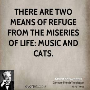 albert-schweitzer-pet-quotes-there-are-two-means-of-refuge-from-the ...