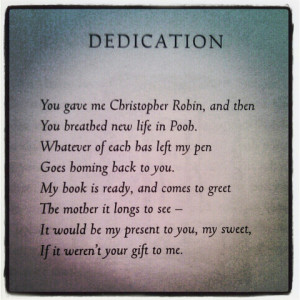 have gorgeous quotes about love in them. Not least, the dedication ...