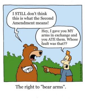 Cartoon: the right to bear arms (medium) by sardonic salad tagged ...