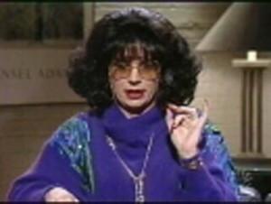 "... Coffee Talk"" host Linda Richman (played by Michael Myers), ""Talk"