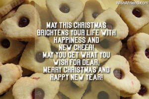 May this Christmas brightens your life with happiness and new cheer!