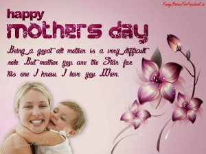 Being a great all mother is a very difficult role, But mother you are ...