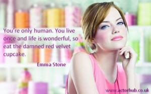 Inspirational and Motivational Quote from Actor Emma Stone