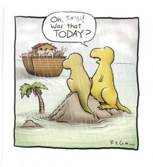 noah's ark, funny, christian quote, funny dinosaur,
