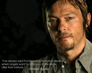Norman Reedus-Angels and Devils Wallpaper by digikatdesigns