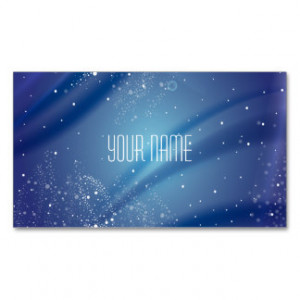 Blue Starry Night Dream Quote Business Cards