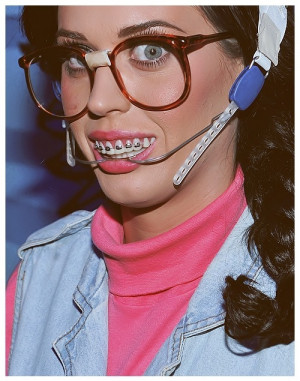 braces, cakeface, glasses, katy perry, pretty