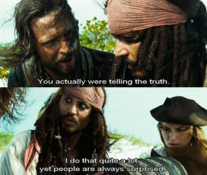 Pirates of the Caribbean Captain Jack Sparrow Quote