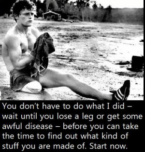 Terry Fox was 18 years old when he contracted cancer.