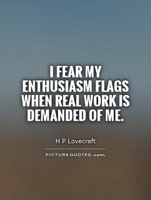 Enthusiasm Quotes About Work
