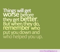 Ending Friendship Quotes | ... and who helped you up | FrienshipQuot ...