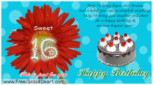 Happy Sweet 16 Birthday Quotes Special happy birthday