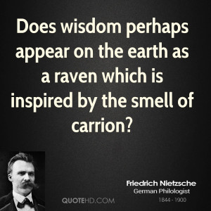 ... on the earth as a raven which is inspired by the smell of carrion