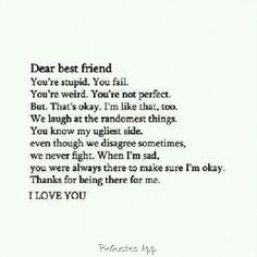 best friends bffs rules forever pinquotescom dear best friend friends ...