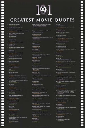 101 GREATEST MOVIE QUOTES POSTER ]