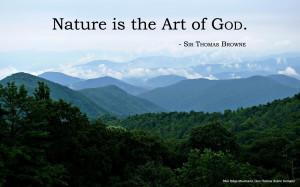 Nature Art God Browne Quote copy