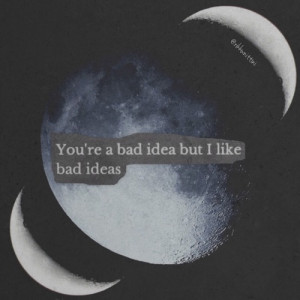 idea, black and white, grunge, instagram, love, moon, moons, quotes ...