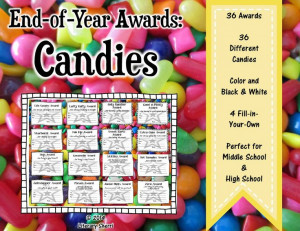 End-of-Year Candy-Themed Awards . . . perfect for middle school and ...