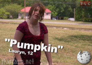 ... Thompson's sister Lauryn aka Pumpkin from Here Comes Honey Boo Boo