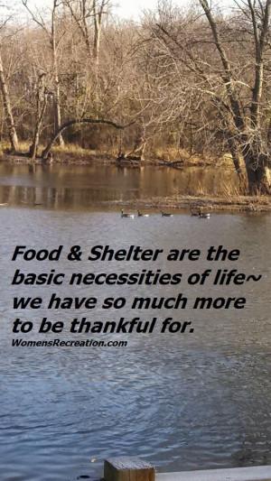 Food & Shelter WomensRecreation.com