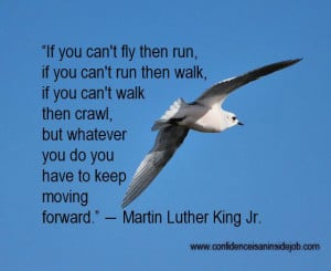 If you can't fly then run, if you can't run then walk, if you can ...