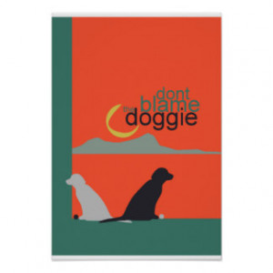 doggie love dog wall poster 13''x19'' matte finish posters