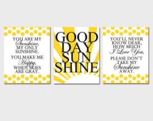 Good Morning Sunshine Quotes Good morning sunshine