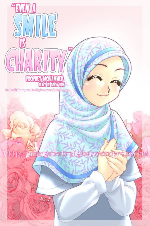 Best Charity Quote ~ Even A smile Is charity