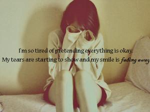 brave, cry, fade, girl, lalak-quotes, pretend, quote, sad, smile ...