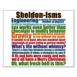 Sheldon Quotes Small Poster | Gifts For A Geek | Geek T-Shirts