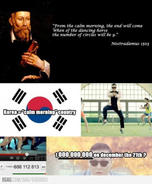 Twitter / 9GAG: Prophecy of PSY ...